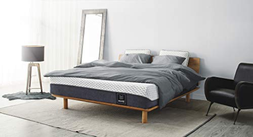 Muse Memory Foam Mattress King Size, Med Support   US-Made with TrueCool Phase-Change Cover