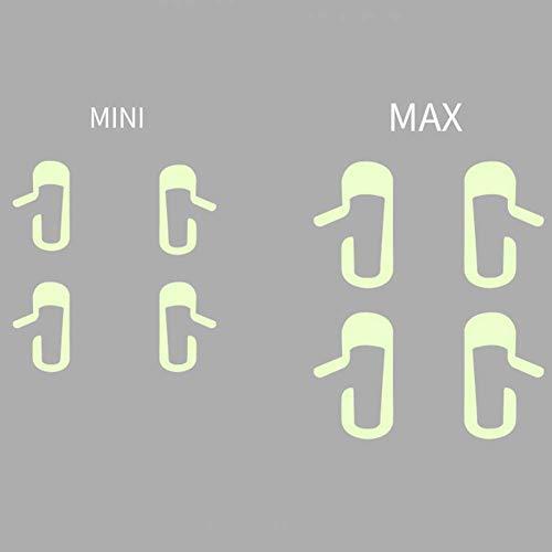 Coche Puerta Abierta Pegatina, PVC Brillante Pegatinas - Interruptor Manillar Pegatina - Puerta Abierta Aviso Marco - Interior Coche Aviso Decoración Estilo - para Tesla Model-3