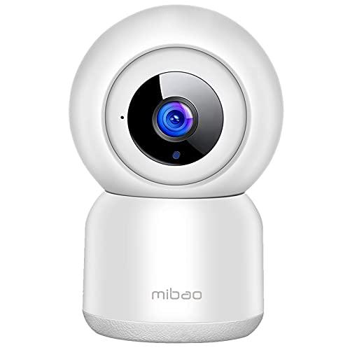mibao 1080P Telecamera Sorveglianza Wi-Fi,videocamera IP Interno Wireless con Visione Notturna,Audio Bidirezionale,Notifiche in tempo reale del sensore di movimento,Allarme via APP