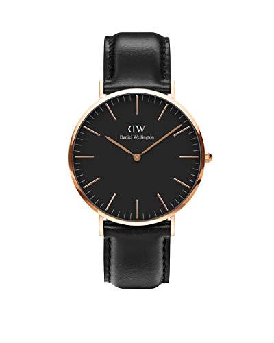 Daniel Wellington Classic Sheffield, Schwarz/Roségold Uhr, 40mm, Leder, für Herren