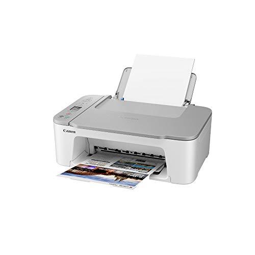 Canon Farbtintenstrahldrucker PIXMA TS3451 Multifunktionsgerät DIN A4 (Scanner, Kopierer, Drucker, 4800 x 1200 DPI, LCD, WLAN, USB, Apple AirPrint, PIXMA Cloud Link, Duplexdruck), weiß