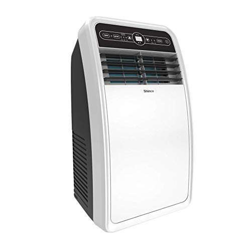 Shinco 8,000 BTU Portable Air Conditioner with Built-in Dehumidifier Function, Fan Mode, Quiet AC Unit Cools Rooms up to 200 sq.ft, LED Display, Remote Control, Complete Window Mount Exhaust Kit