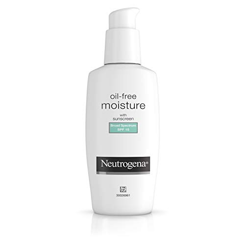 Neutrogena Oil-Free Daily Long Lasting Facial Moisturizer & Neck Cream with SPF 15 Sunscreen & Glycerin, Non-Greasy, Oil-Free & Non-Comedogenic Face Moisturizer, 4 fl. oz