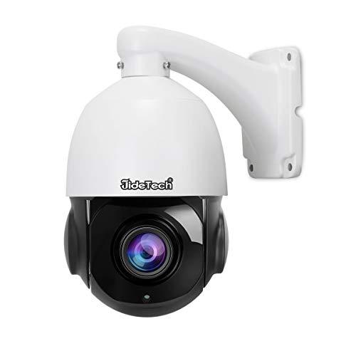 Telecamera dome IP ad alta velocità PTZ POE - 5MP con zoom ottico 20X, IP66 esterna resistente alle intemperie per la sorveglianza di sicurezza