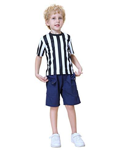 TOPTIE Camiseta de árbitro para niños Disfraz para niños pequeños Camiseta-XL