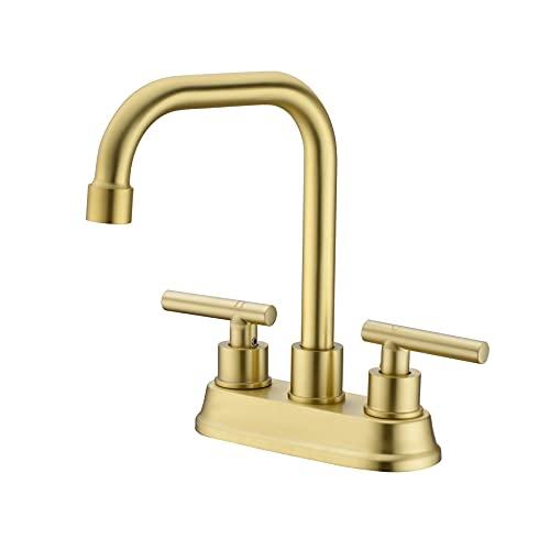 Zexzen 2 Handle Bathroom Faucet Brushed Gold, 4 Inch...