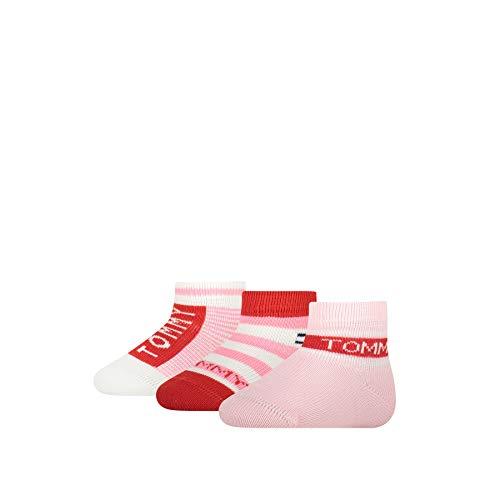 Tommy Hilfiger Baby Socks Giftbox (3 Pack) Calzini, Combo Rosa, 15-18 Bimba