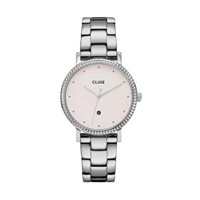 CLUSE Women's Quartz Watch with Stainless Steel Strap, Silver, 16 (Model: CW0101209008)