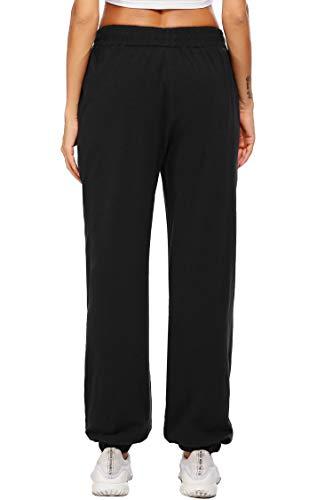 coorun Yoga Jogger for Women Workout Pants Oversized Lounge Trousers Casual Pants Classic Sweatpants Black 6
