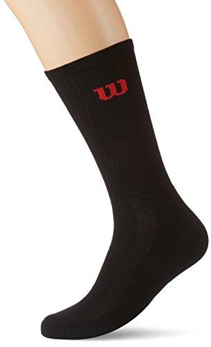 Wilson Men Crew Socks Calze Uomo Socks Nero 3946