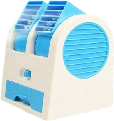 YUVI TRADERS Portable Small Plastic Air Conditioner Water Cooler Mini Fan and Dual Bladeless for Use...