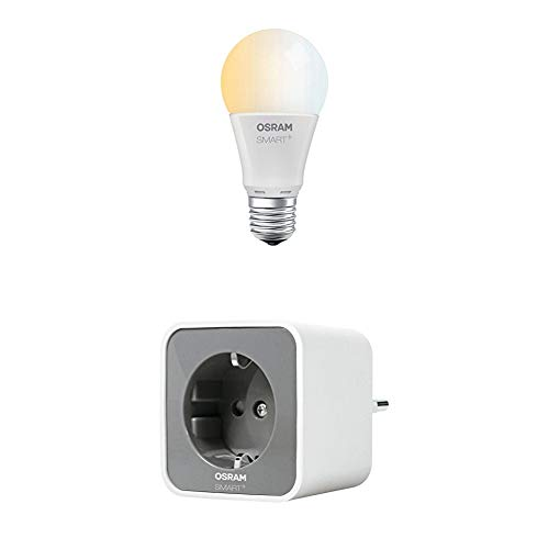 Osram Smart+ Prise Connectée Smart Plug Zigbee + Osram Smart+ Ampoule Connectée LED Zigbee- E27 - Equiv. 60W - Blanc Chaud/Froid - Compatible avec Alexa