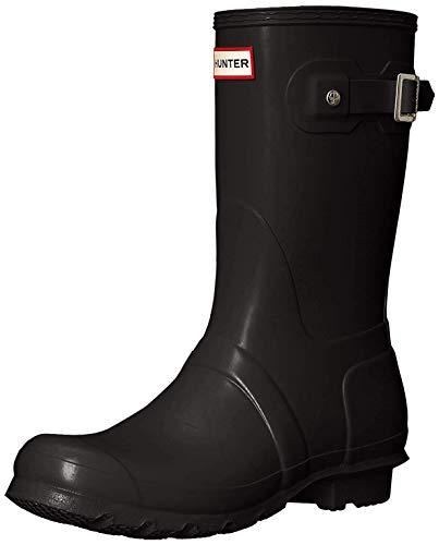 Hunter Women's Original Short Rain Boot,Black Matte,8 B(M) US