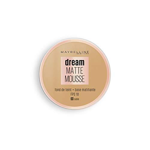 Maybelline New York - Fond de Teint Mousse Matifiant - FPS18 - Dream Matte Mousse - Sable (30)