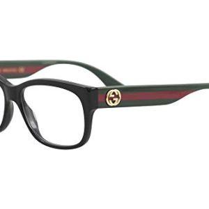 Gucci GG 0278O 011 Black Plastic Rectangle Eyeglasses 55mm
