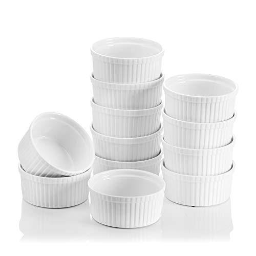 MALACASA, Serie Ramekin.Dish, Set Piatti 10,9 cm (11 cm) Avorio Bianco Porcellana Porcellana...