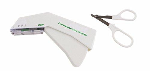 INSGB cucitrice pelle monouso sterili + remover (Set) strumento usa e getta con cucitrice 35 staffe...