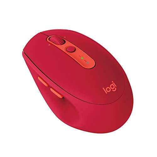 ロジクール ワイヤレスマウス 無線 マウス Bluetbooth Unifying 7ボタン M585RU ルビー windows mac Chrome...