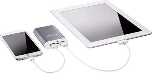 Product Image 1: Varta Powerpack Batteria Esterna da 6000 mAh con Cavo Micro-USB da 50 cm, Senza Cavo Adattatore Lightning, Grigio/Bianco