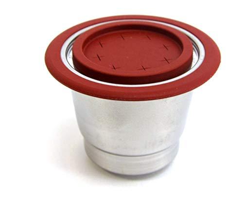 Mister Barista 508887, Capsula ricaricabile per tutti i modelli di macchinetta per il caffè Nespresso, 2 coperchi