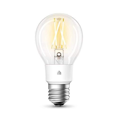 TP-Link KL50 Kasa Ampoule connectée WiFi à Filament, Ampoule Led E27, 7W, Compatible avec Amazon Alexa, Google Home et IFTTT, Blanc Doux Dimmable, Contrôle à distance par App, Aucun hub requis