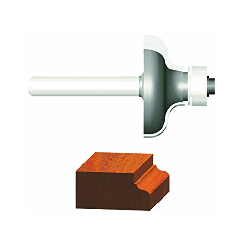 Vermont American 23146 1/4-Inch Radius Carbide Tipped Ogee Router Bit, 1/2-Inch Ball Bearing 2-Flute 1/4-Inch Shank