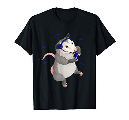 Gamer possum playing video games T-Shirt
