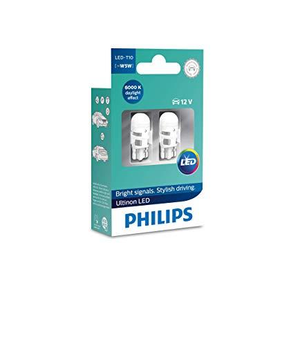 Philips 11961ULWX2 LED T10 Lampadina di Segnalazione per Auto (W5W), 6.000K, Bianco, Set di 2