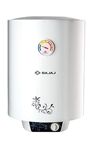 Bajaj New Shakti Storage 25 Litre Vertical Water Heater, White, 4 Star (43.3 x 44.1 x 57 cms)