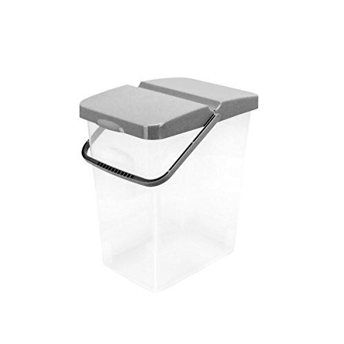 Unbekannt 10 L Behälter Waschpulver Futterbehälter Unibox Deckel Aufbewahrungsbox Grau