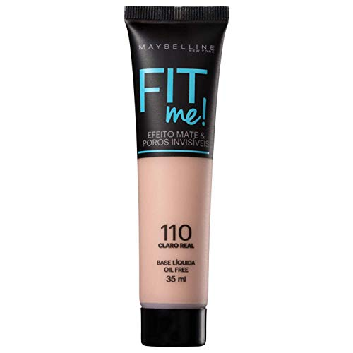 Base Líquida Fit Me Cor 110, Maybelline, Claro