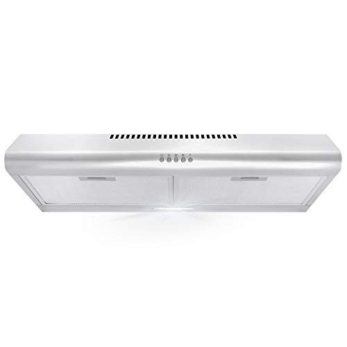 Cosmo 5MU30 30 in. Under Cabinet Range Hood with Ducted / Ductless...
