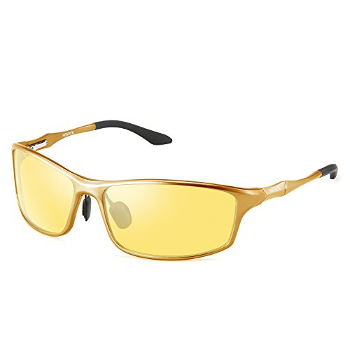 SOXICK Night Driving Glasses, HD Night Vision Glasses for Driving Anti-Glare Polarized (Yellow-6)