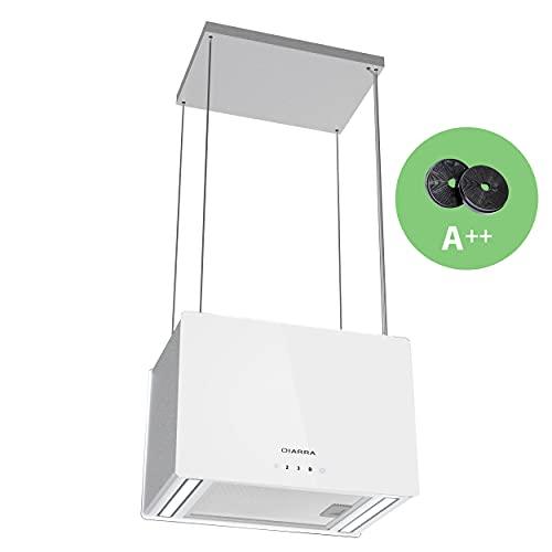 CIARRA CBCS4850 Cappa Aspirante a Isola, Controllo WiFi APP, 700m/h Illuminazione LED, Pannello Touch, Ricircolo 4 Livelli, Salvaspazio, 45cm INOX
