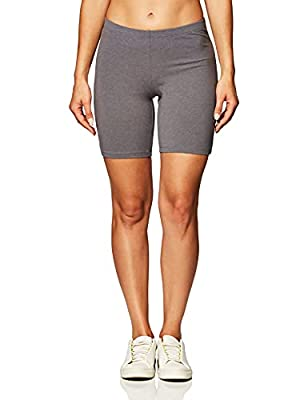 """Soft, cotton stretch jersey with a touch of spandex for move-with-you comfort Heavier fabric weight to prevent show-through Flattering fit Comfortable elastic waistband 7"""" inseam"""