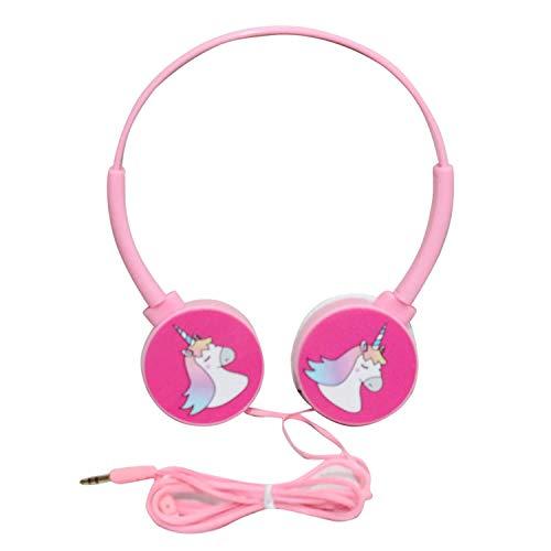 GIFTMAX Unicorn Wired On Ear Headphone without Mic (Blue, Unicorn Pink)