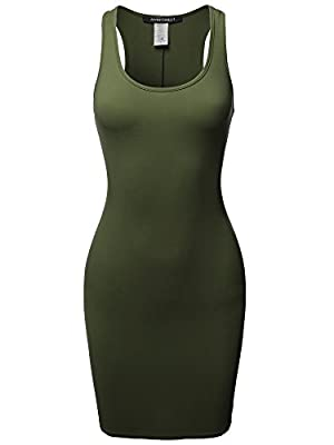 Fitted / Sleeveless / Scoop neck / Racer back / Floral / Camouflage / Body-con mini dress HAND WASH COLD. DO NOT BLEACH. HANG DRY. COOL IRON. Lightweight / Soft and breathable jersey fabric / Stretchable / Hits at upper thigh / Made in USA Dress runs...