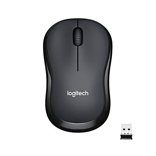 Logitech M220 Souris sans Fil, Boutons Silencieux, 2,4 GHz avec Nano-Récepteur, Suivi Optique 1000 PPP, Batterie Longue Durée 18 Mois, Ambidextre, Compatible avec PC/Mac/Portable - Grise Charbon