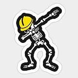 3 pieces SET | Construction Worker Dabbing | Hard Hat Sticker | Decal | Helmet Label Rude Funny