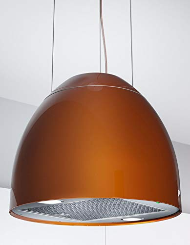 Moderna cappa per isola New Moon, 45 cm, cappa aspirante in rame *569014
