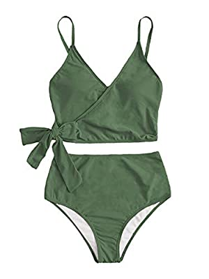 80% Nylon, 20% Spandex, fabric is very stretchy Top: Tie Side, crisscross solid bathing suits Bottom: cut out, high waist, high cut, cheeky thong swimsuits The swimwear is suitable for beach, pool party, spa and so on Please refer to the size measure...
