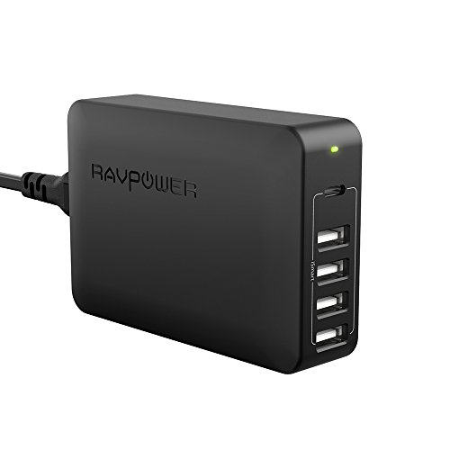 USB PD Charger, RAVPower 60W 5-Port USB C Charging Station USB Charger with Power Delivery Port for Nintendo Switch, MacBook, iPhone X 8 Plus, Pixel 2016 and iSmart Ports for iPhone, iPad and More