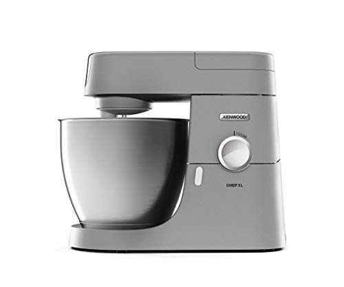Kenwood KVL4100S Impastatrice Planetaria Chef XL, Robot da Cucina Mixer, 1200 W, 6.7 Litri, Acciaio, Argento