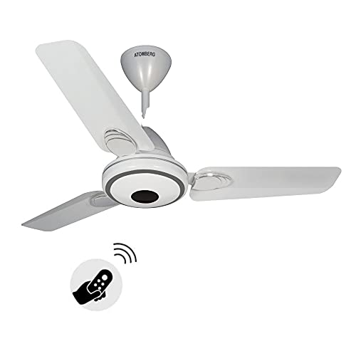 Atomberg Efficio+ 900mm BLDC motor Energy Saving Ceiling Fan with Remote Control (Pearl White)