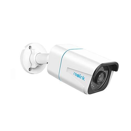 Reolink 4K Ultra HD Telecamera Poe Esterno con Rilevamento di Persone/Veicoli, Videosorveglianza Poe con Time-Lapse, Registrazione Audio, Avvisi di Movimento Intelligenti e Slot Scheda SD, RLC-810A