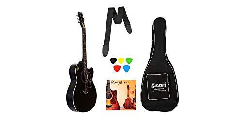 Givson Ketostics Venus Special VS-BLK, Acoustic Guitar Combo with Cover/Bag, String Set, Belt and Picks