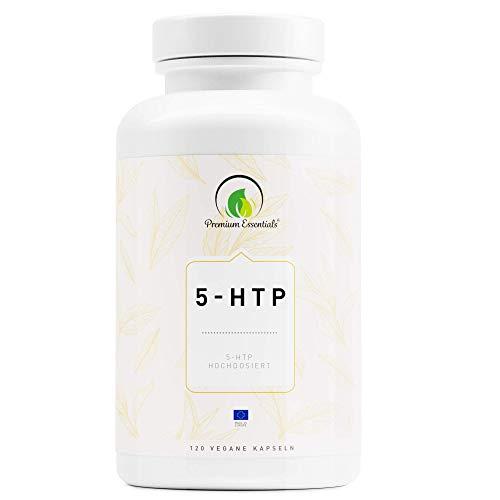 5-HTP | Vegane Kapselform | 5-Hydroxytryptophan (Vegan) ULTRA HOCHDOSIERT | Griffonia Samen Extrakt | UNTERSTÜTZUNG FÜR DEN SEROTONIN-SPIEGEL (120)