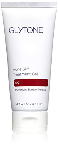 Glytone Acne 3P Treatment Gel with Time-Released 5% Benzoyl Peroxide, Hydrating Mattifying Gel, Fragrance-Free, Oil-Free, Non-Comedogenic, 2 oz.