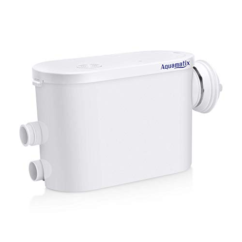 Aquamatix Silencio S Broyeur Sanitaire pour l'évacuation Des Eaux Usées WC, Douche, Lavabo, Machine A Laver, Lave-Vaisselle