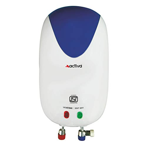 ACTIVA Instant 3 LTR 3 KVA SPCEIAL Anti Rust Coated Tank Geyser with Full ABS Body with 5 Year Warranty Premium (White)